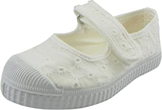 حذاء رياضي للبنات من Cienta Mary Jane - حذاء كاجوال مع حزام قابل للتعديل، (للرضع/الأطفال الصغار)