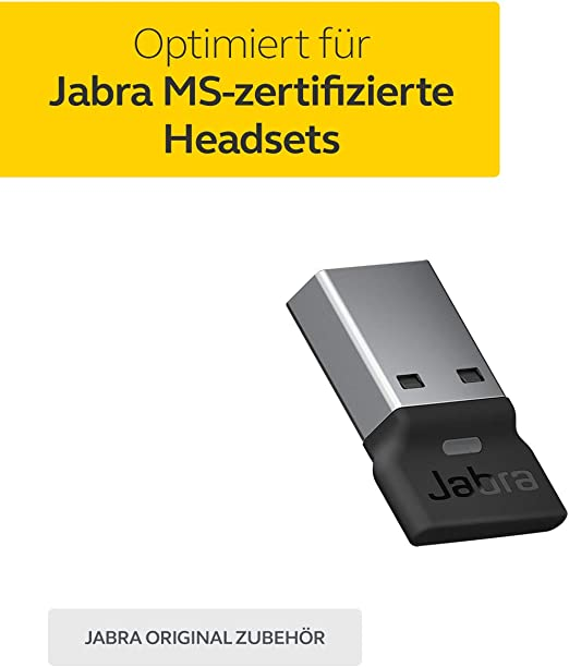 Jabra Link 380c Ms Usb A Bluetooth Adapter Wireless Dongle For Evolve2 85 And 65 Headsets Elektronik