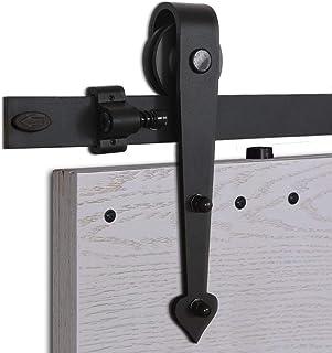 CCJH 5FT-152.6cm Herraje para Puertas Kit de Accesorios para Puerta Correderas Juego de