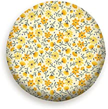 topkingstore Cute Small Flower Yellow Nature Spare Wheel Tire Cover Waterproof Dust-Proof Universal for Jeep,Trailer, RV, SUV and Many Vehicle 14