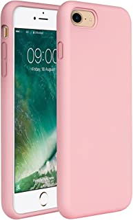 "Miracase iPhone SE Case(2020),iPhone 8 case,iPhone 7 Silicone Case Gel Rubber Full Body Protection Shockproof Cover Case Drop Protection for Apple iPhone 9/ iPhone 8/ iPhone 7(4.7"")(Rose Pink)"