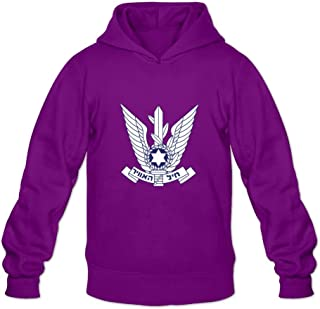 Israeli Air Force Funny 100% Cotton Long Sleeve Hoodies For Teenagers