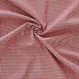 Morbidissimi Cotone a Quadretti al metraggio per Cucito Creativo - Colori Vari P546 Rosso