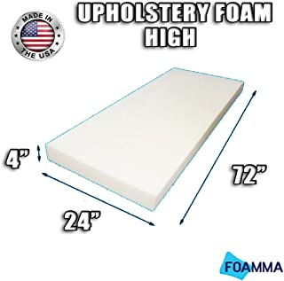 FOAMMA High Density Upholstery Foam Cushion (Seat Replacement , Upholstery Sheet , Foam Padding) Fast! Made in USA!! (4
