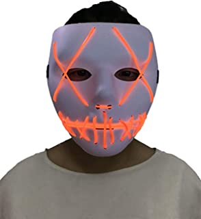 Halloween Purge Mask - Cosplay Led Costume Mask for Halloween Rave Costume Party