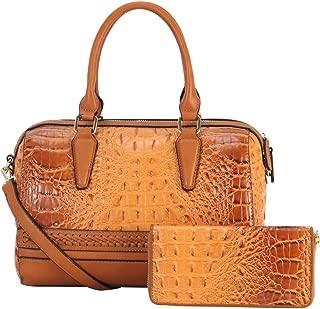Handbags for Women, Ladies Tote Shoulder Bags Women's Top Handle Desiger Satchel Purses and Wallet 2pcs Sets Messenger Bags