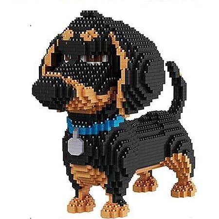 Aegilmctoys Mini Haustierhund Building Set 3d Puzzle Nano Bausteine Figur Gebaut Einem Modellbauset Spielzeug Bricks Haustier Bauen Bauklötze Spiel Bausteine Weihnachts Geburtstag Geschenk Dachshund Sport Freizeit