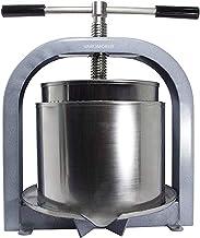Varomorus Stainless Steel Wine Fruit Press for Apple, Grape, Berries, Honey, Manual Crusher Juice Maker (25L / 6.6 Gal)