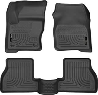 Husky Liners 98771 Black Weatherbeater Front & 2nd Seat Floor Liners Fits 2012-2015 Ford Focus