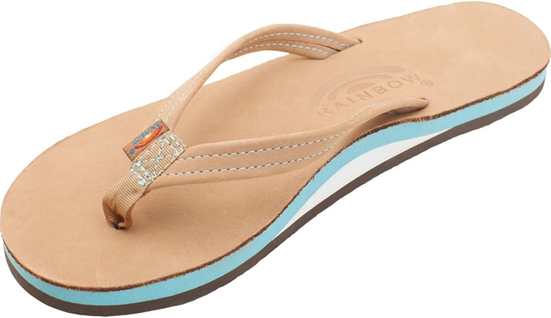 Rainbow The Tropics Narrow Leather Sandals - Women's - Sierra Ocean (Medium)