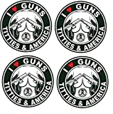 Set of 4 | Hard Hat Stickers | Love Guns and Titties | USA Decals Oilfield Electrician OSHA Union 30 10 Trump Election