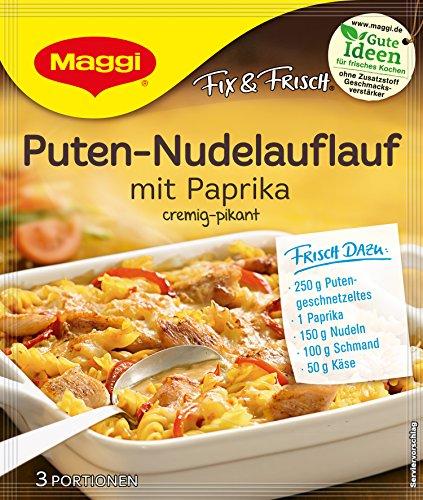 Maggi fix und frisch für Puten-Nudel-Auflauf mit Paprika 36 er Pack (36 x 42g)