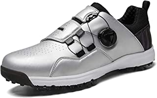 ZMYC Men's Outdoor Golf Shoes, Waterproof Golf Sports Sneakers Casual Shoes with Non-Slip Spikes, Golf Training Shoes (Col...