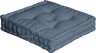 Enjoy Home cojín de Suelo con asa 50x 50x 10algodón Azul Jean 50x cm