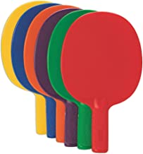 S&S Worldwide Spectrum Table Tennis Paddle Set (Set of 6)