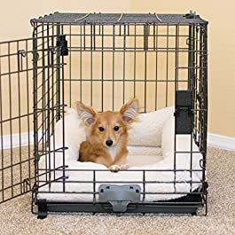 K&H Pet Products Deluxe Bolster Crate Pad X-Small Natural 14″ X 22″