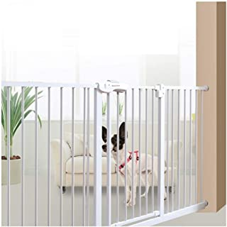 Telescopic Fence Baby Gates for Stairs Fence Pressure Mount Isolation Door Pet Fence Dual Lock Self Closing