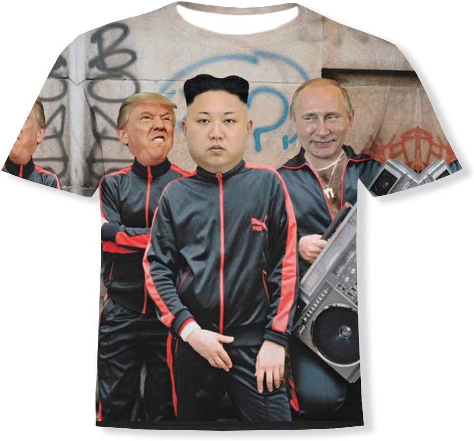 Fistyle Trump Kim Jong-un Putin - Camiseta de Manga Corta, Color Blanco