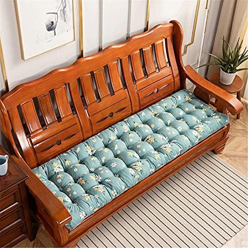 Cuscino rettangolare per panca- 8 cm di spessore- Cuscino per panca da giardino 2/3/4 posti- morbido/Antiscivolo/addensare- per giardino, ambienti esterni ed interni ( Color : L , Size : 52x170cm )