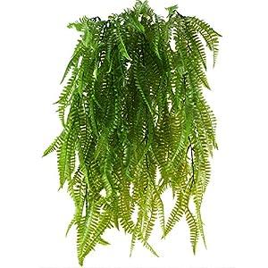MIHOUNION Falsa Hierba Persa 2pcs Gran Ivy Planta de plástico Artificial para la decoración del hogar de Interior al Aire Libre blacon, 80 CM