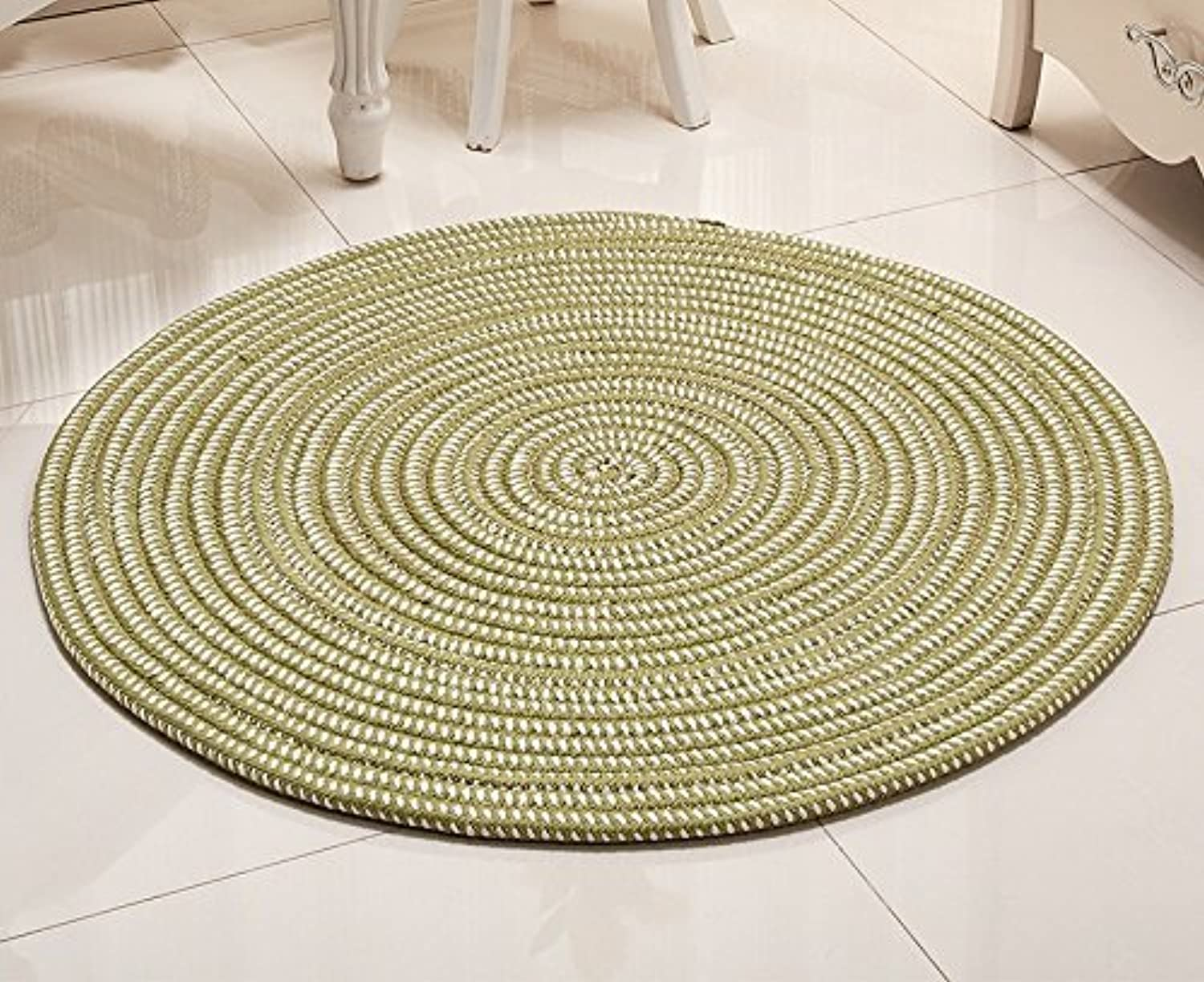 Super - Fiber Rope Series Computer Cushions Rattan Chair Basket Round Carpets Living Room Bedroom Environmental Predection Soft and Comfortable (color    3, Size   Diameter150cm)
