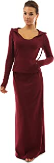 Women Hoodie Pocket Blouson Maxi Dress