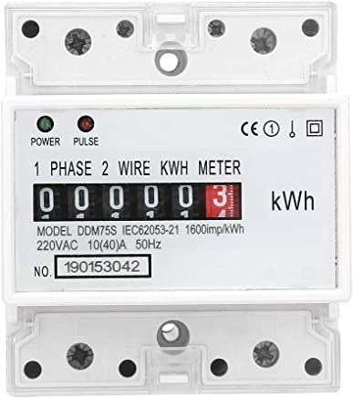 TOOGOO 1 Phase 2 Wire Din Rail Electronic Energy Kwh Meter ... on kv meter, co2 meter, btu meter, keg meter, electric meter, landis gyr meter, bike trainer with power meter, kilowatt meter, frequency meter, temperature meter, inductance meter, phoenix meter, power factor meter, ppm meter,
