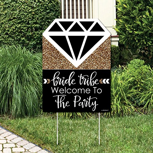 Big Dot of Happiness Bride Tribe - Bridal Shower Party Decorations - Bachelorette Welcome Yard Sign
