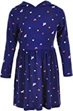 Carter's Toddler Girls Navy Hoodie Dress with Unicorns and Rainbows