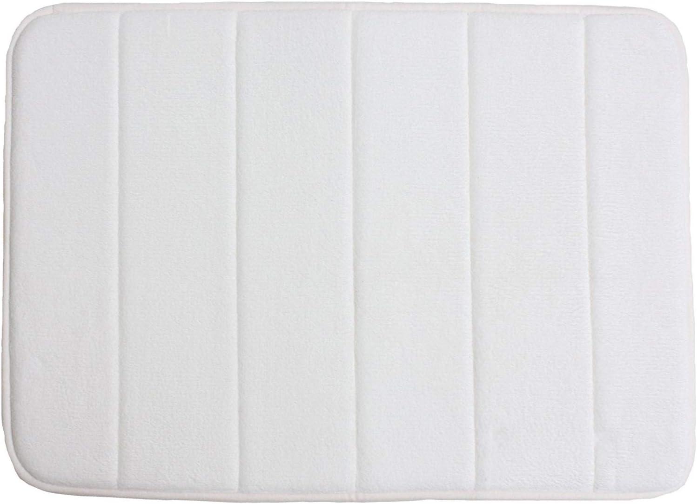 VANRA Small Bath Mat Bath Rugs Anti-Slip Memory Foam Non-Slip Bathroom Mat Soft Bathmat Carpet 15.7