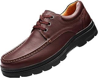 CAIFENG Classique Hommes d'affaires Oxfords for Loisirs Chaussures Lacer (Slip en Option) Ronde en Cuir véritable Toe Plat...