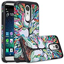 LG K20 Plus Case, LG K20 V Case, LG Harmony Case [Dual Layer] Drop Protection Hybrid Silicone Protective Case Cover for LG K20 Plus/LG K20 V/LG Harmony - Colorful Tree
