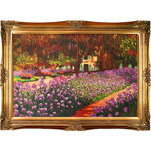 La Pastiche overstockArt Artist's Garden at Giverny Painting with Victorian Gold Frame by Monet