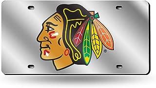 Rico Chicago Blackhawks Laser Cut Chrome License Plate