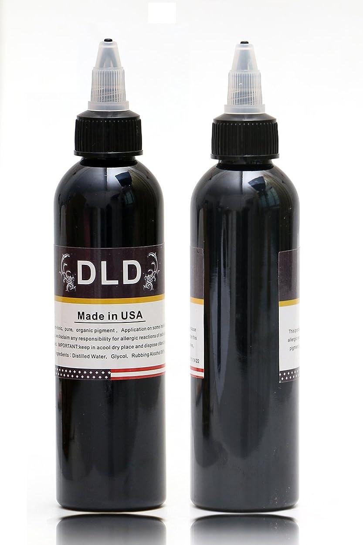 ロール楽観的冷笑するプロフェッショナル1ボトルDLDタトゥーインクライニングとシェーディング最新の部族ライナーシェイダーピグメントブラック60ML最新の高品質の永久的なメイクアップ