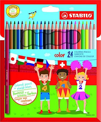 STABILO color matite colorate colori assortiti - Astuccio da 24