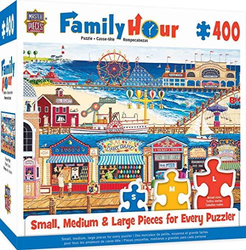 MasterPieces Family Hour Ocean Park Ocean Pier Jigsaw Puzzle, 400-Piece
