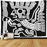 Tapestry Wall Hanging Sudamerican Pattern Geoglyphs Old Inca Signs Symbols Peru Clipart Aztec Symbol Sign South Tattoo Home Decorations for Living Room Dorm Decor 80x60 Inch