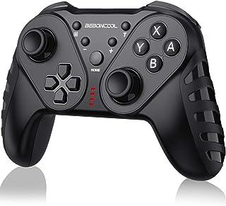 【2020最新版】Switch コントローラー BEBONCOOL Nintendo switchに適用コントローラー 六軸ジャイロセンサー搭載 任天堂switchに対応 連射&自動連射機能付き Bluetooth 接続 スイッチ コントローラー 無線スイッチ プロコン 振動機能プロコン