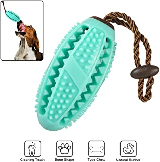 Dog Chew Toys for Aggressive Chewers Treat Ball Teeth Clean Dental Care Exercise Game Safe Bite Resistant Toothbrush Stick Train Play Indestructible Interactive Durable North Court Silk Road