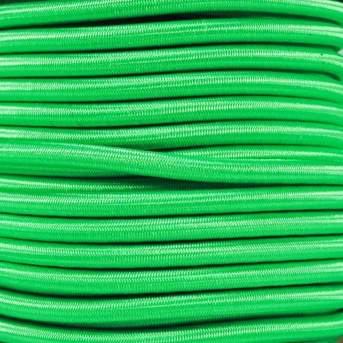 West Coast Paracord Bungee Elastic Nylon Shock Cord (1/4 Inch x 25 Feet, Neon Green)