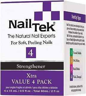 Nail Tek Xtra 4, Nail Strengthener for Weak and Damaged Nails, 0.5 oz, Value 4-Pack