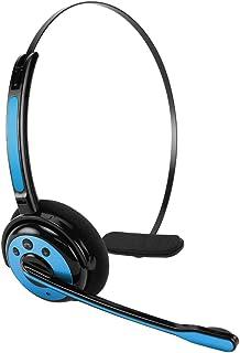 Cellet Pro Trucker Wireless Headset/Cell Phone Headset with Microphone, Office Wireless Headset, On Ear Car Wireless Headphones for Cell Phone, Skype, Truck Driver, Call Center. (Blue)