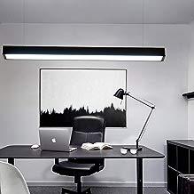 Lámpara Colgante LED 26W Luz de Techo Iluminación Pendiente Araña 26W Luz y Altura Ajustable (26W Negro)