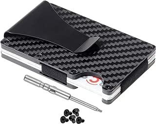 Carbon Fiber Wallet | Metal Wallet | Minimalist Wallet | RFID Blocking Front Pocket Wallet | Card Holder | Slim Wallet | Money Clip