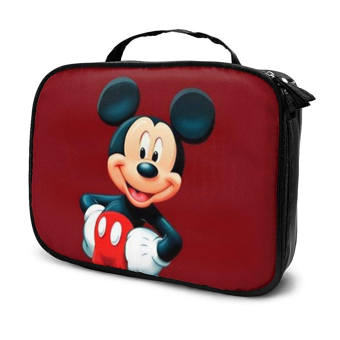 クッション対話孤児Daituかわいいミッキーマウス 化粧品袋の女性旅行バッグ収納大容量防水アクセサリー旅行