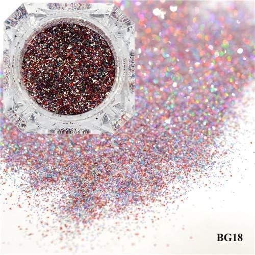 Gabcus 1Box Dazzling Platinum Nail Powder Laser Glitter Discount mail Max 59% OFF order Sparkly