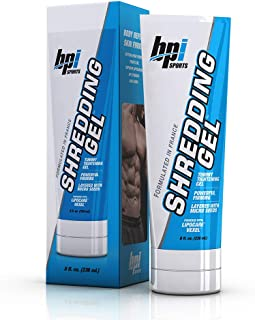 BPI Sports Shredding Gel – Topical Gel – Skin Firming, Toning, Muscle Definition, Reduce Cellulite – Bodybuilding – Clinically Dosed Patented Ingredients – 6 Pack Abs – For Men & Women – 8 fl. oz