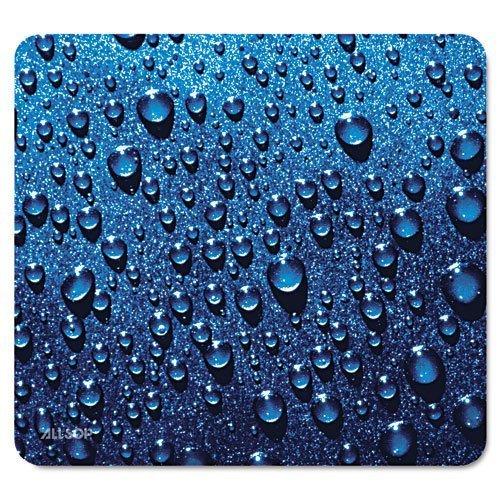 Tappetino per mouse Allsop, goccia di pioggia - Blu (30182) 25X30CM