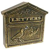 PrimeMatik - Cassetta delle Lettere Casella Postale per Lettera e Posta Antico ghisa Colore ossido Parete Uccelli